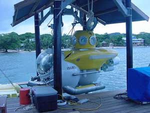 """Idabel"" Deep Submersible Submarine at Roatan Honduras"